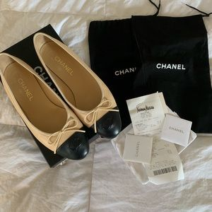 Classic Chanel Ballet Flats